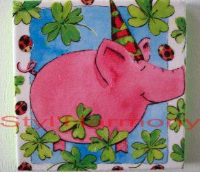 Tableau cochon tout rose. 1