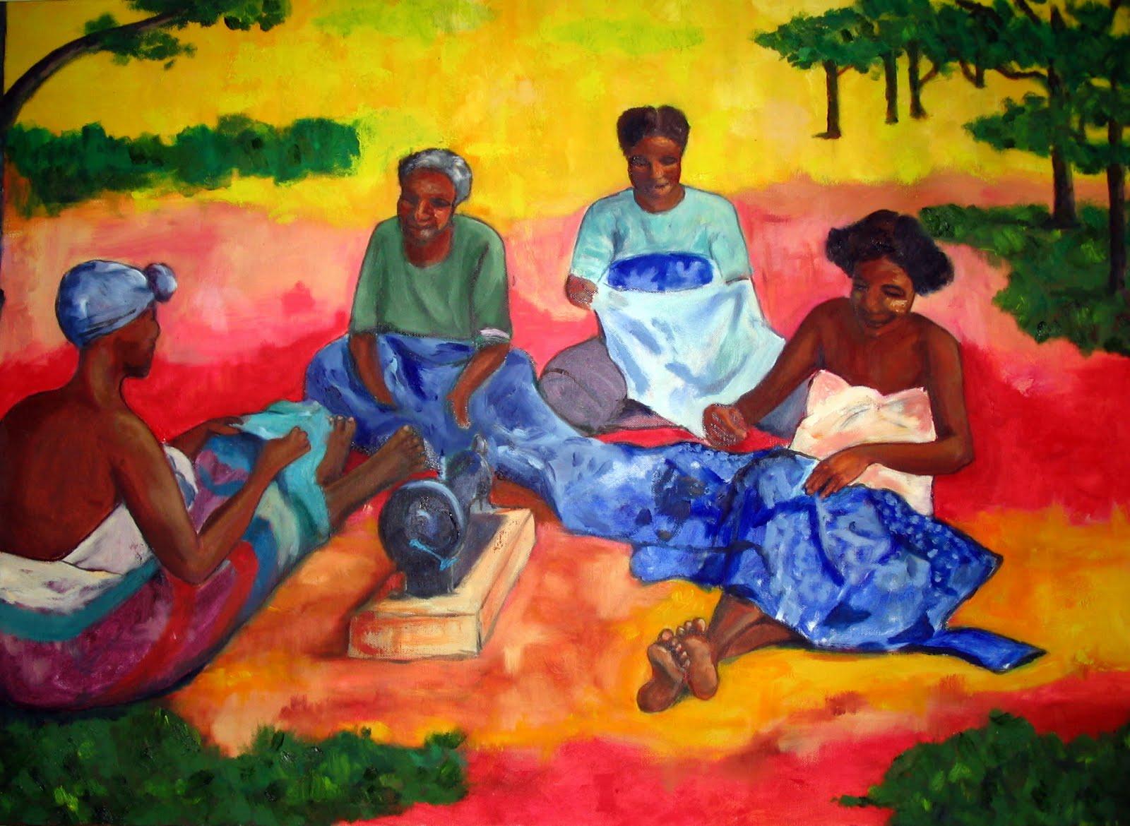 Les femmes- Andavadoaka-Gauguin-tableau-decoration-set de table-