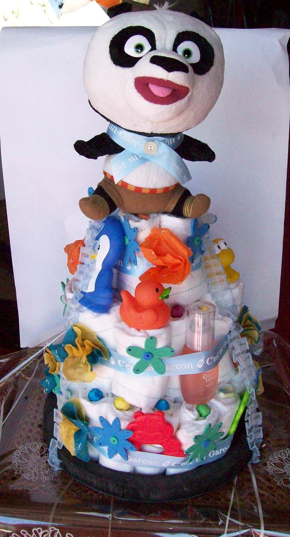 Gâteau de couches pour une naissance !! 1