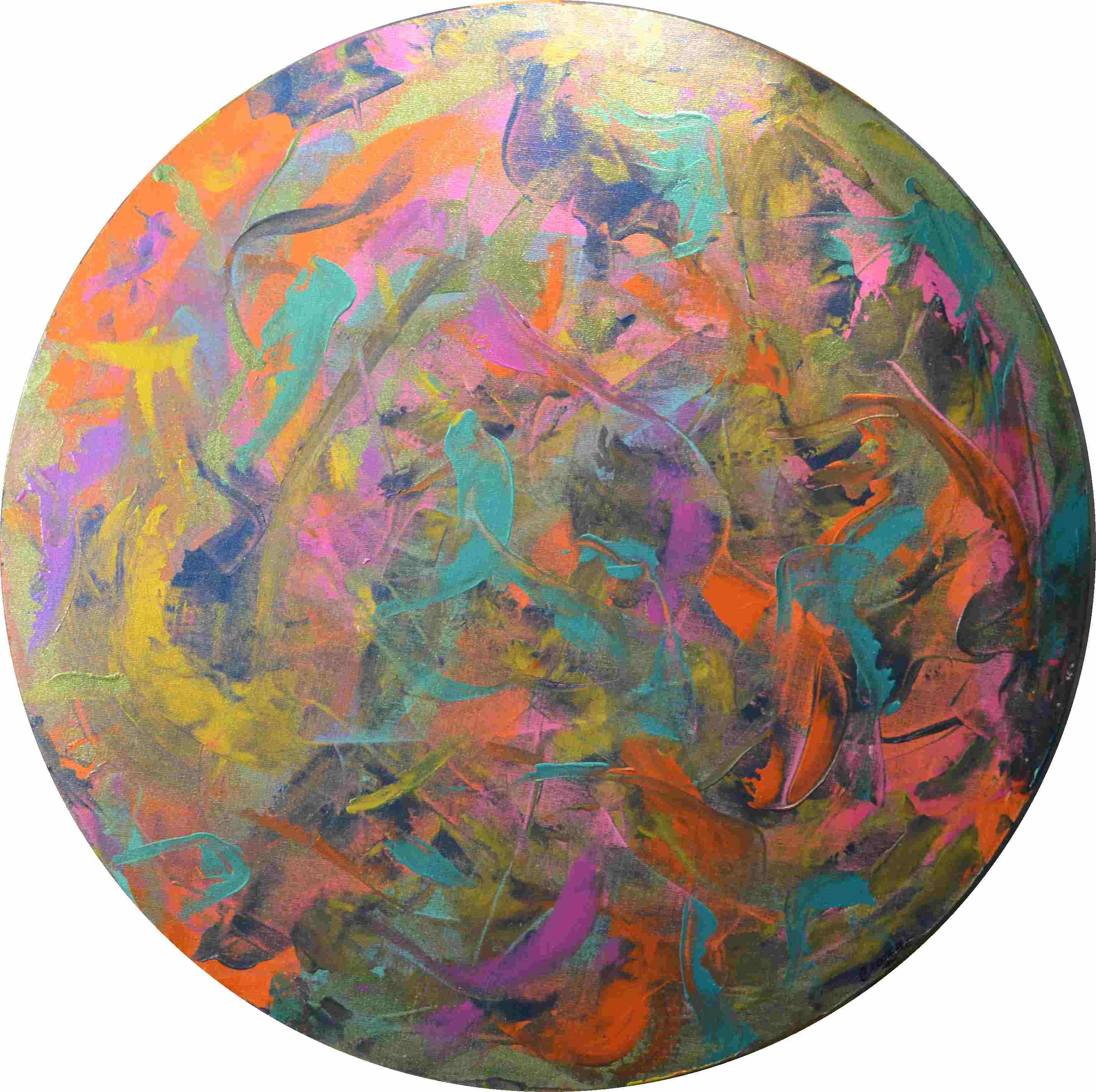 tableau-moderne-abstrait-design-rond-cercle-art-peinture-toile-1