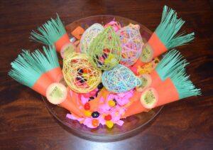 Décorations de Pâques avec de vrais bonbons 2