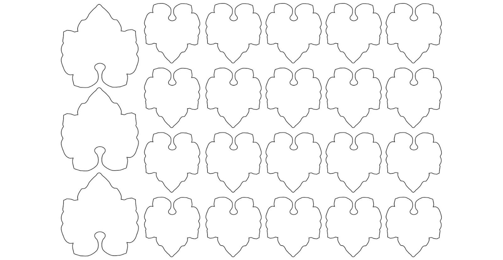 Small Leaves    Free Printables 1