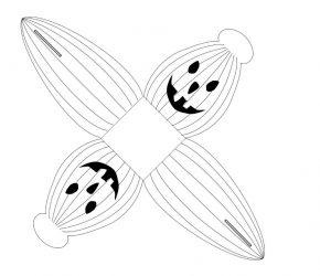 Citrouille Visage souriant GRAND MODELE 1