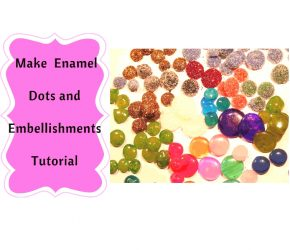 Make your own Enamel Dots the easiest way with Hot Glue !! 20