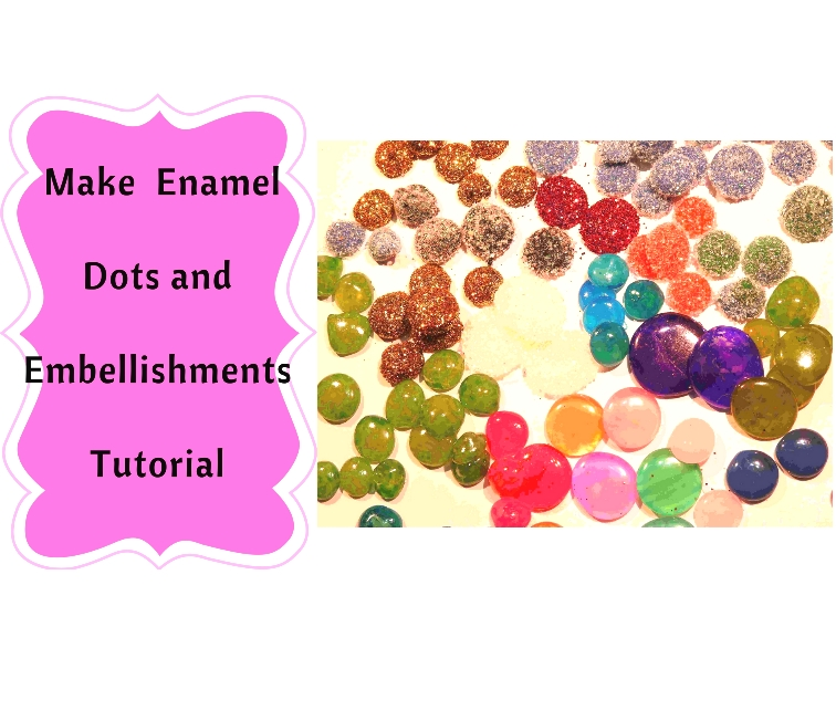Make your own Enamel Dots the easiest way with Hot Glue !! 1