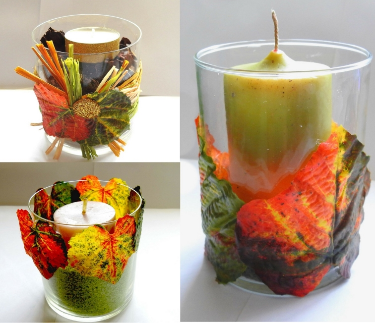 Make your own Fall Home Decor with Glass Jars 1