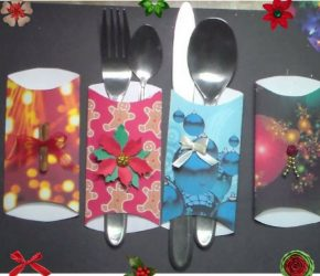 Christmas Decorations : Silverware Holders 9