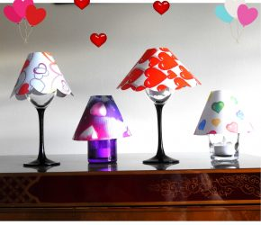 Valentine's Day : lets make some glass Lamp Shades 2