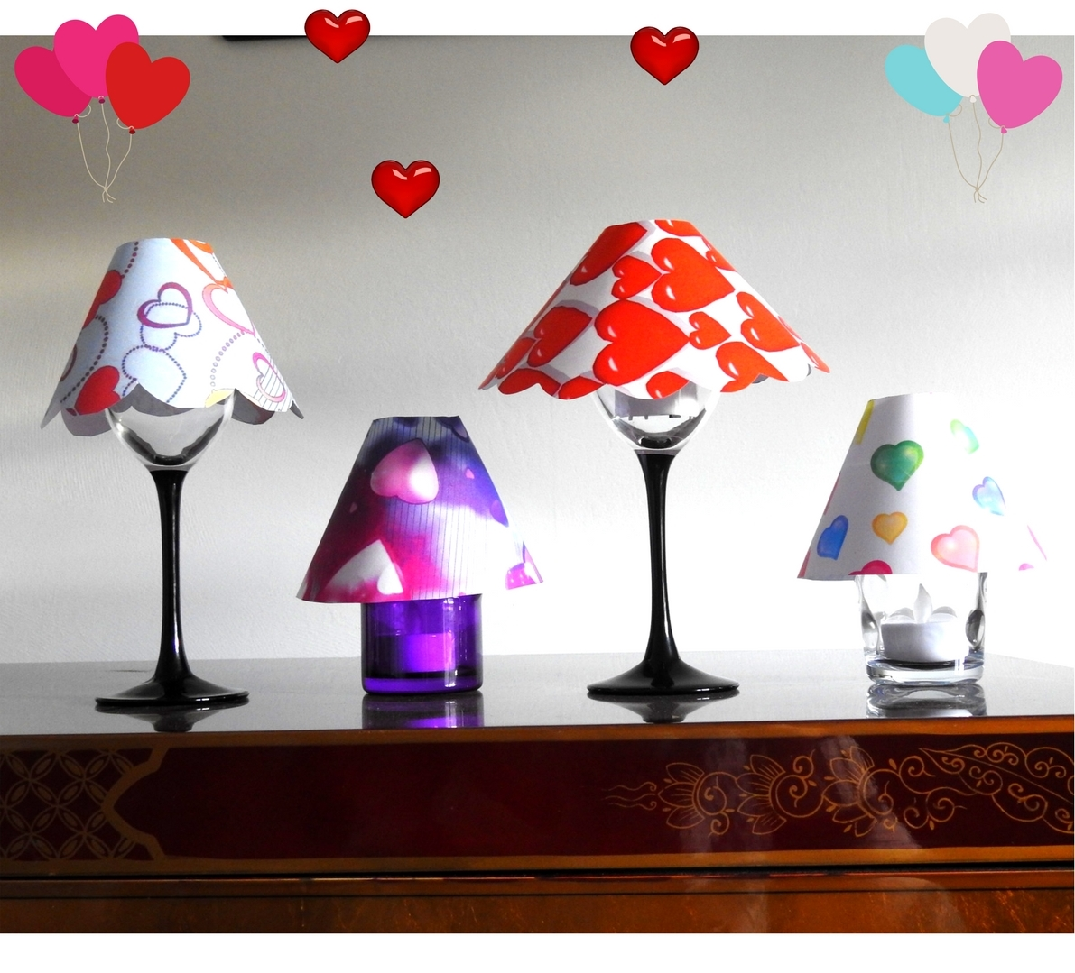 Valentine's Day : lets make some glass Lamp Shades 1