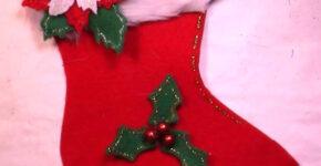 Chaussettes de Noël en Feutrine sans Couture 1
